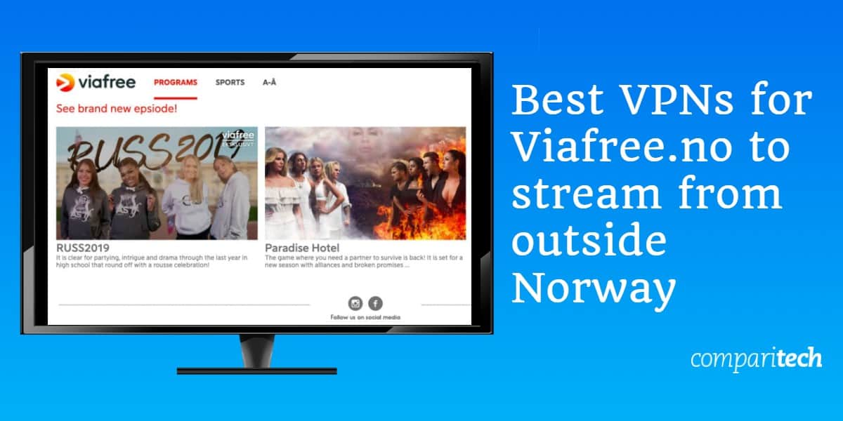 Best VPNs for Viafree.no