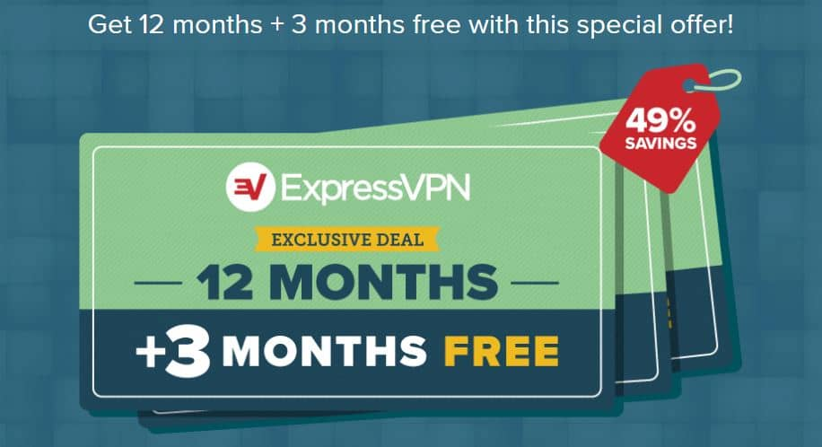 ExpressVPN Coupon: 3 Months Free + 49% Discount (tested Sep