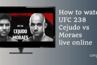 How to watch UFC 238 Cejudo vs. Moraes live online anywhere
