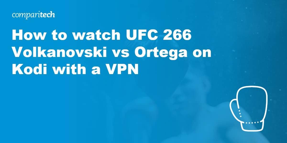 watch UFC 266 online