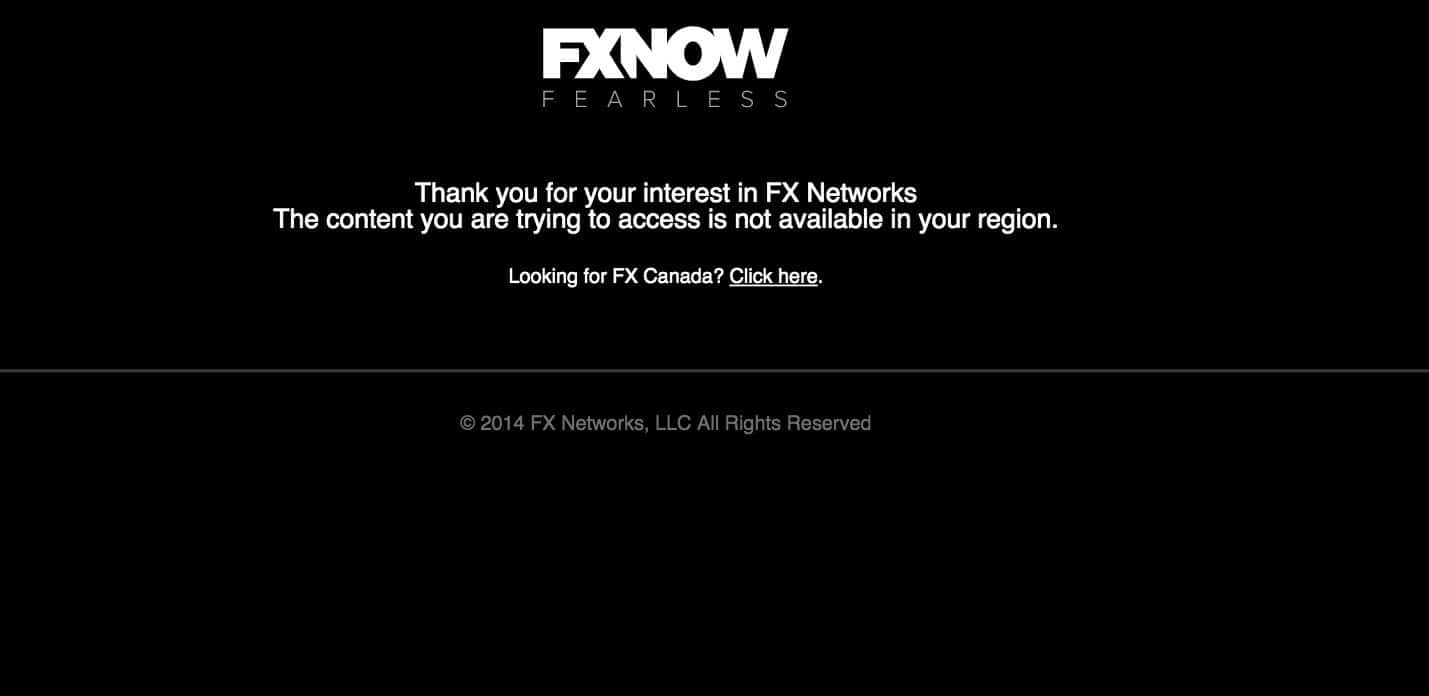 FXNow streaming error