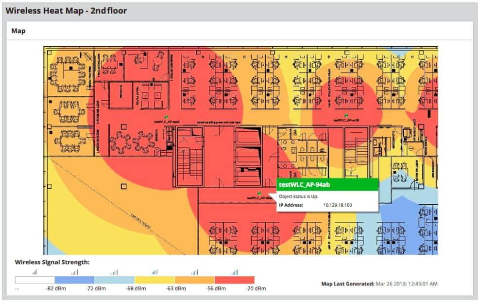 SolarWinds NPM Wireless Heat Map
