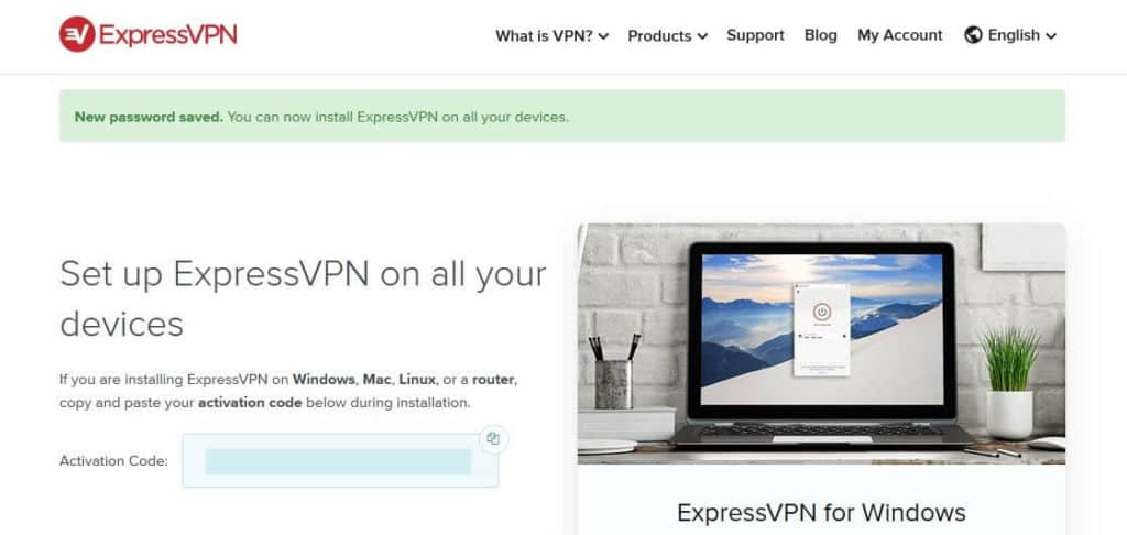ExpressVPN free trial activation code.