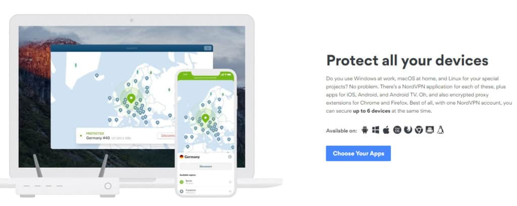 nordvpn homepage protect all your devices