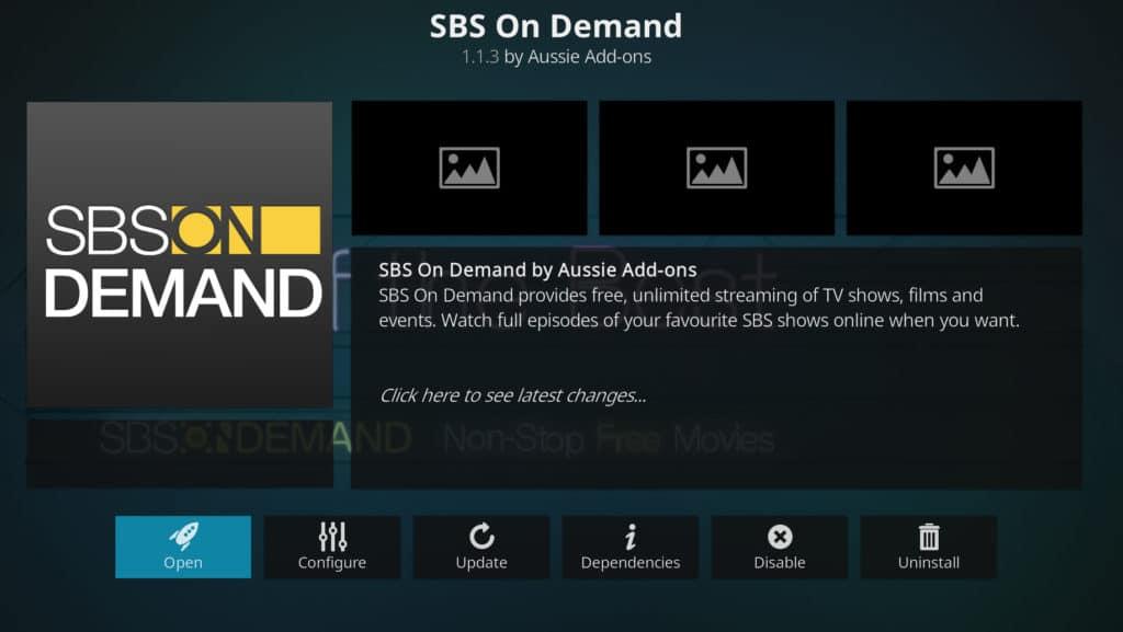 SBS kodi addon french open 2019