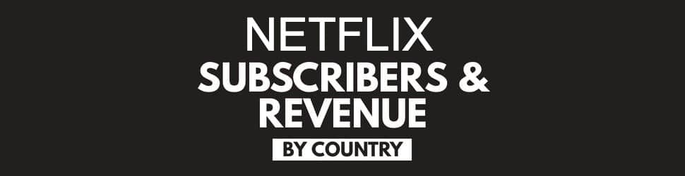 Netflix subscribers and revenue by country