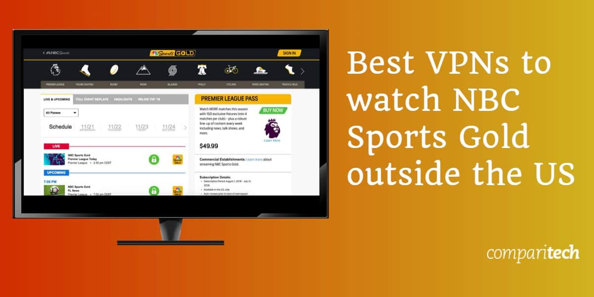 best VPNs to watch NBC Sports Gold