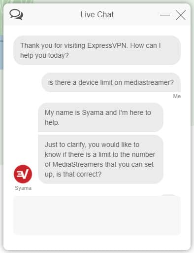 expressvpn support live chat