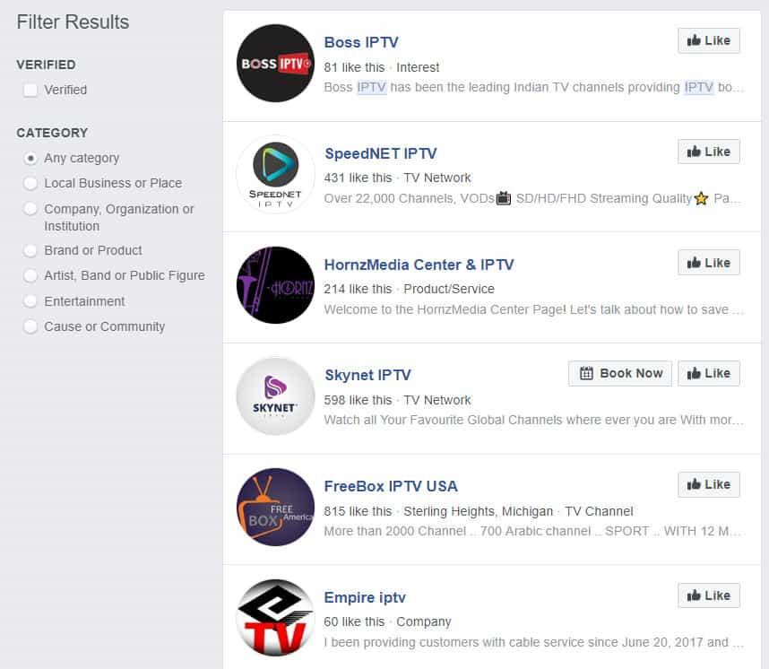 facebook iptv