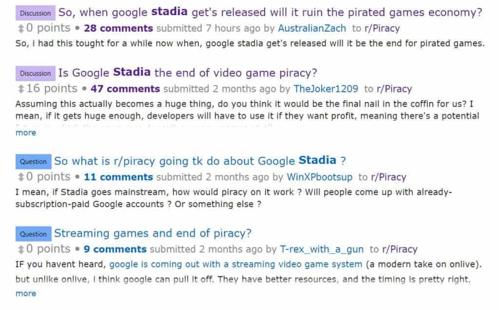 game streaming gaming piracy on reddit