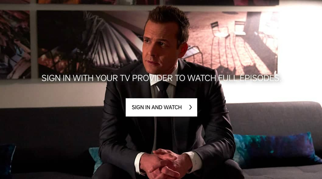 USA Network TV provider sign in