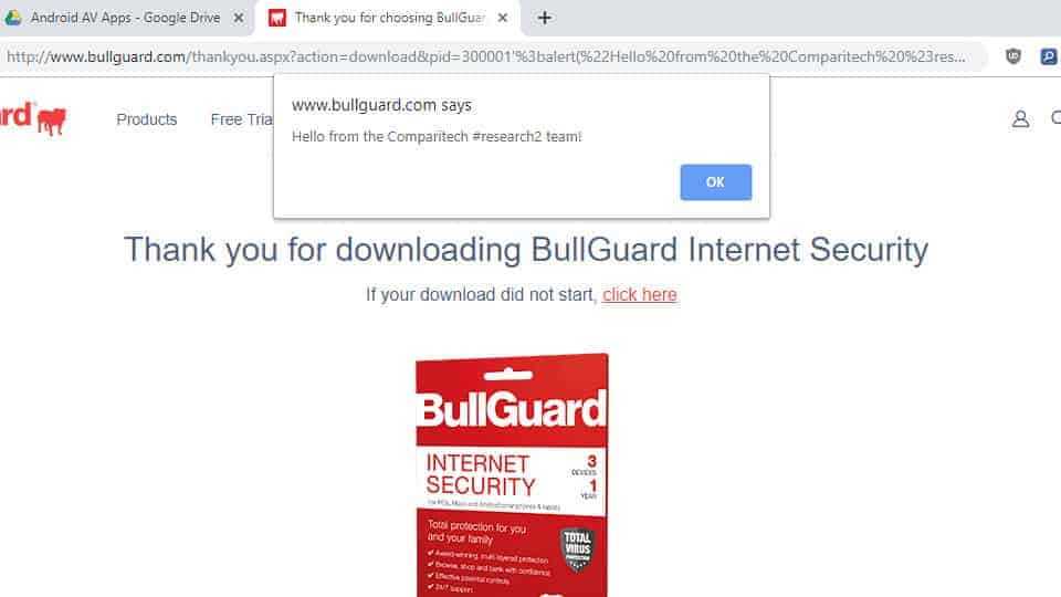 android antivirus bullguard flaw