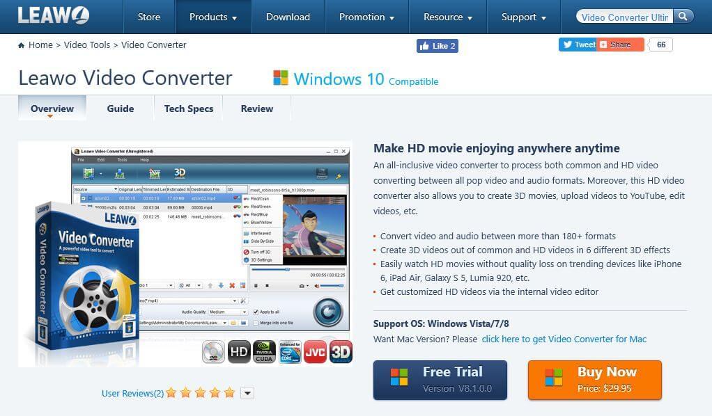 Leawo video converter.