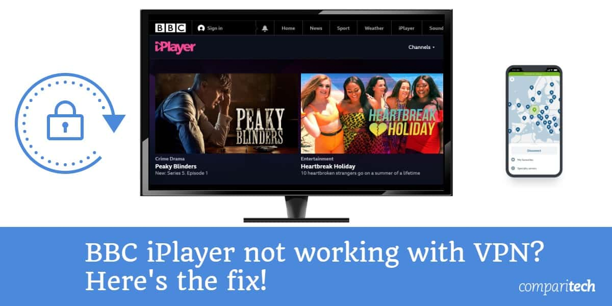 BBC iPlayer not working with VPN