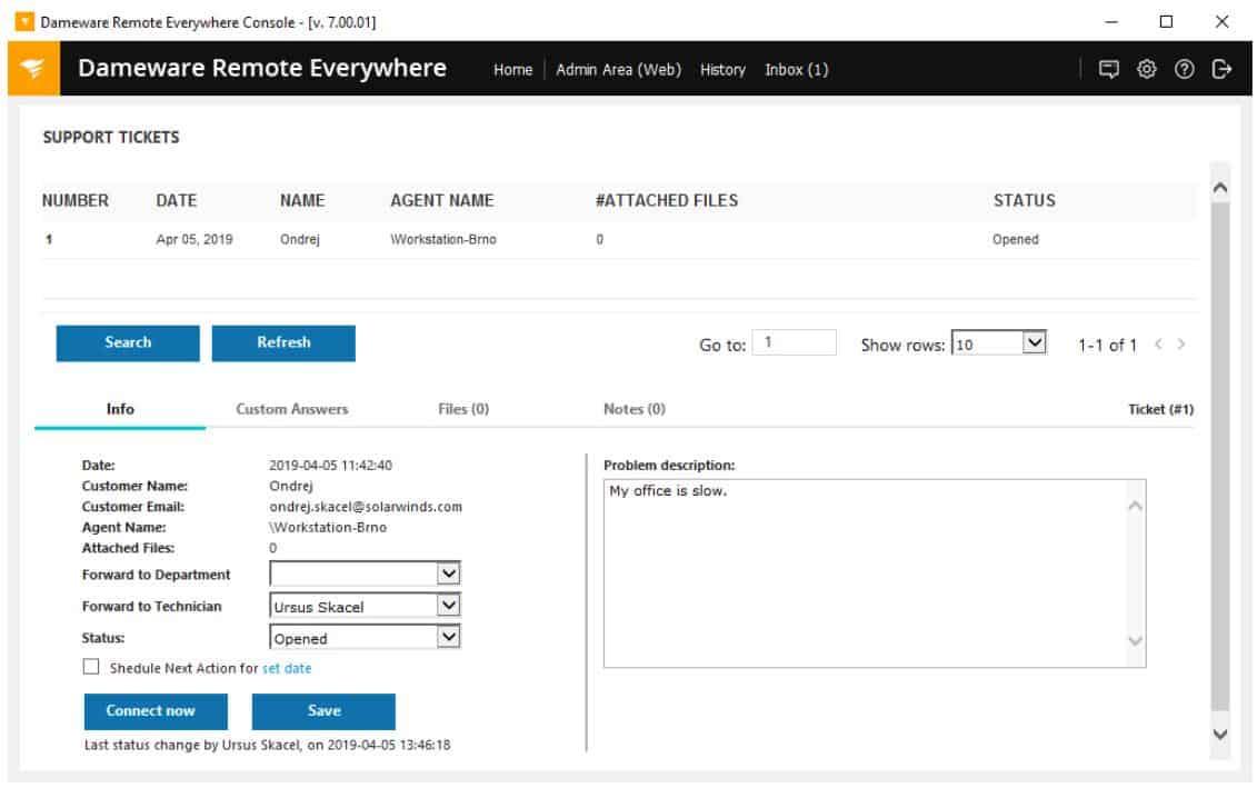 Dameware Remote Everywhere - Lightweight Ticketing