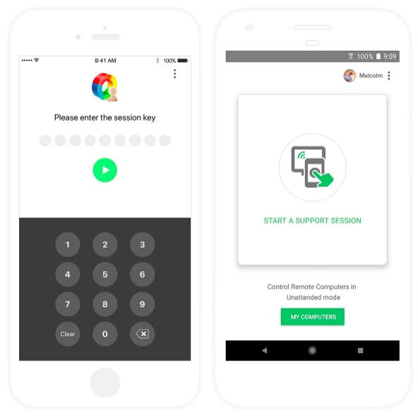 Zoho Assist Mobile Session