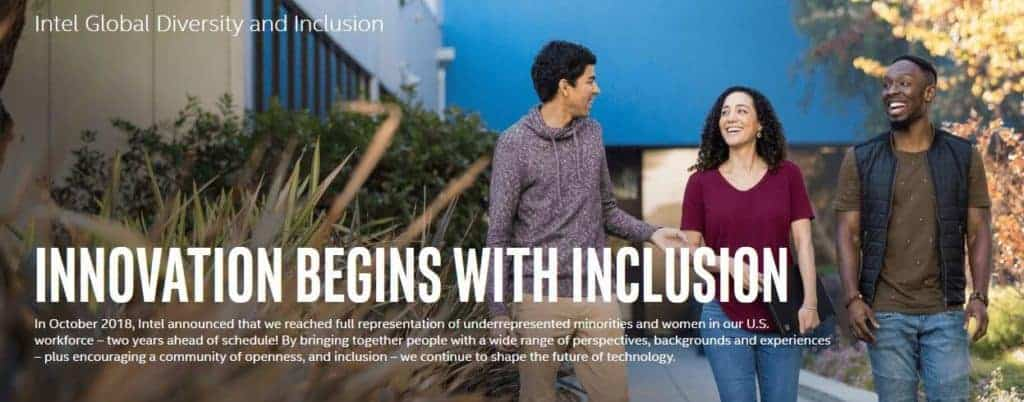 Intel Global Diversity and Inclusion report.