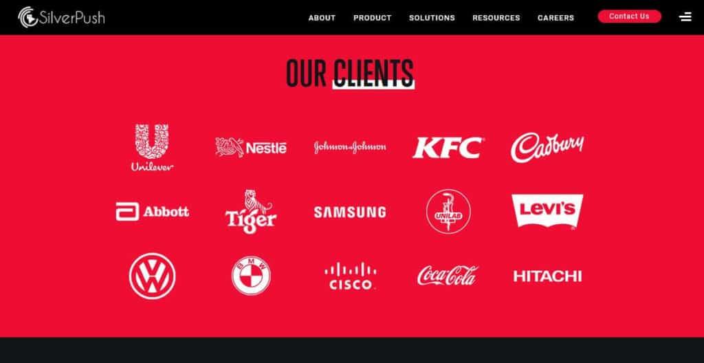 SilverPush partners page.