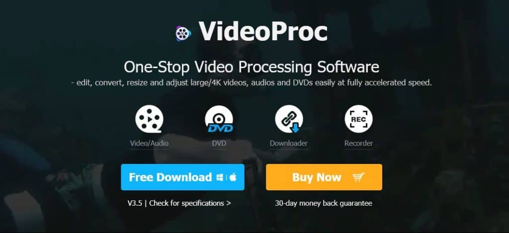 VideoProc: best video converters for Mac.