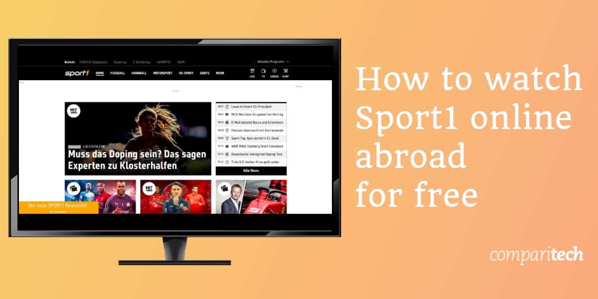 How to watch Sport1 online abroad for free