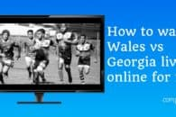 How to watch Wales v Georgia online for free (Rugby World Cup 2019)
