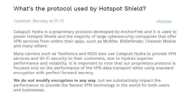 Catapult Hydra information.