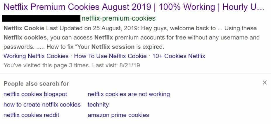 netflix cookie sites