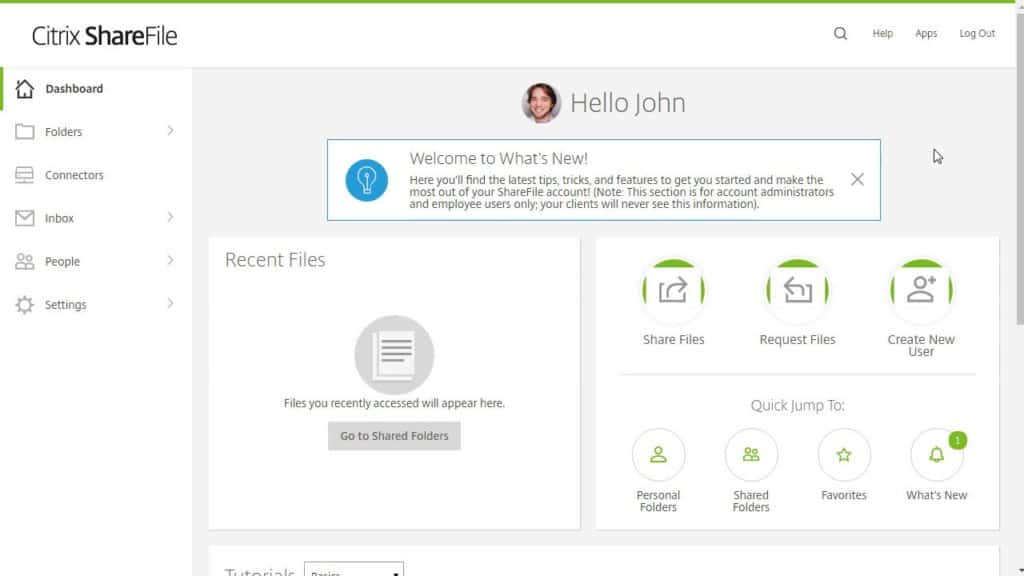 Citrix ShareFile screenshot