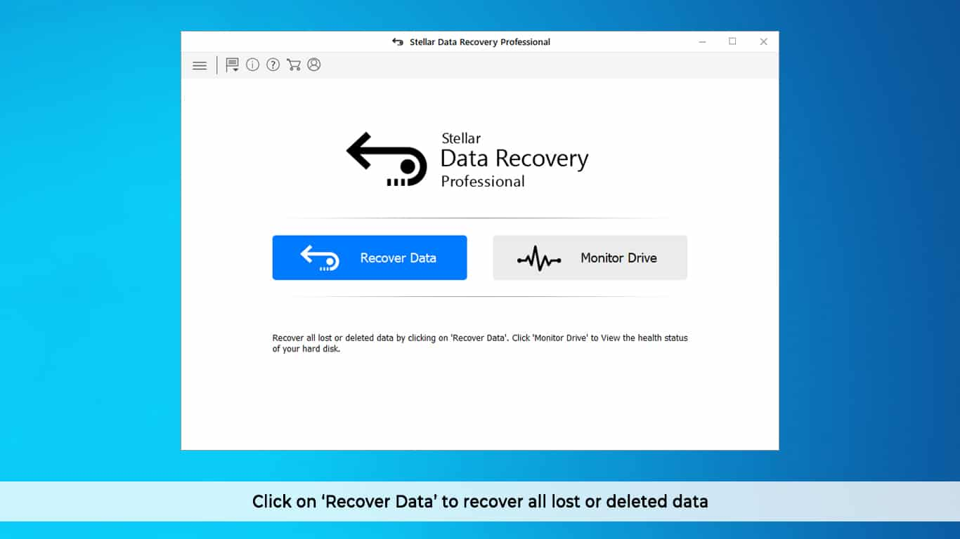 click on recover all lost data