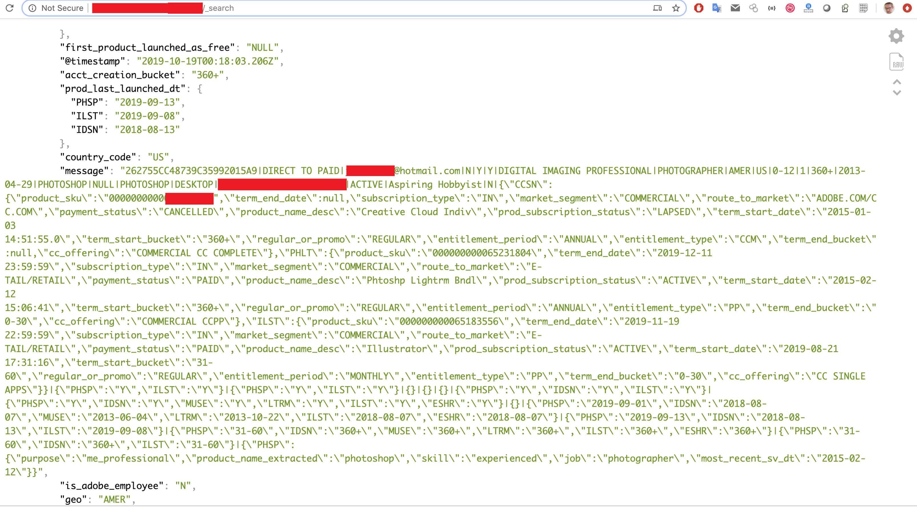 Adobe Creative Cloud-Daten