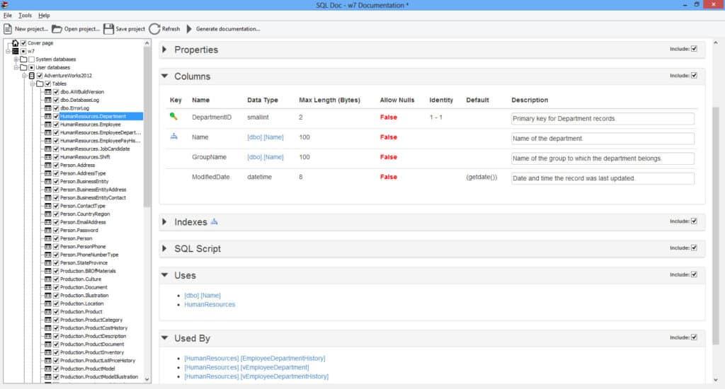 Redgate SQL Doc