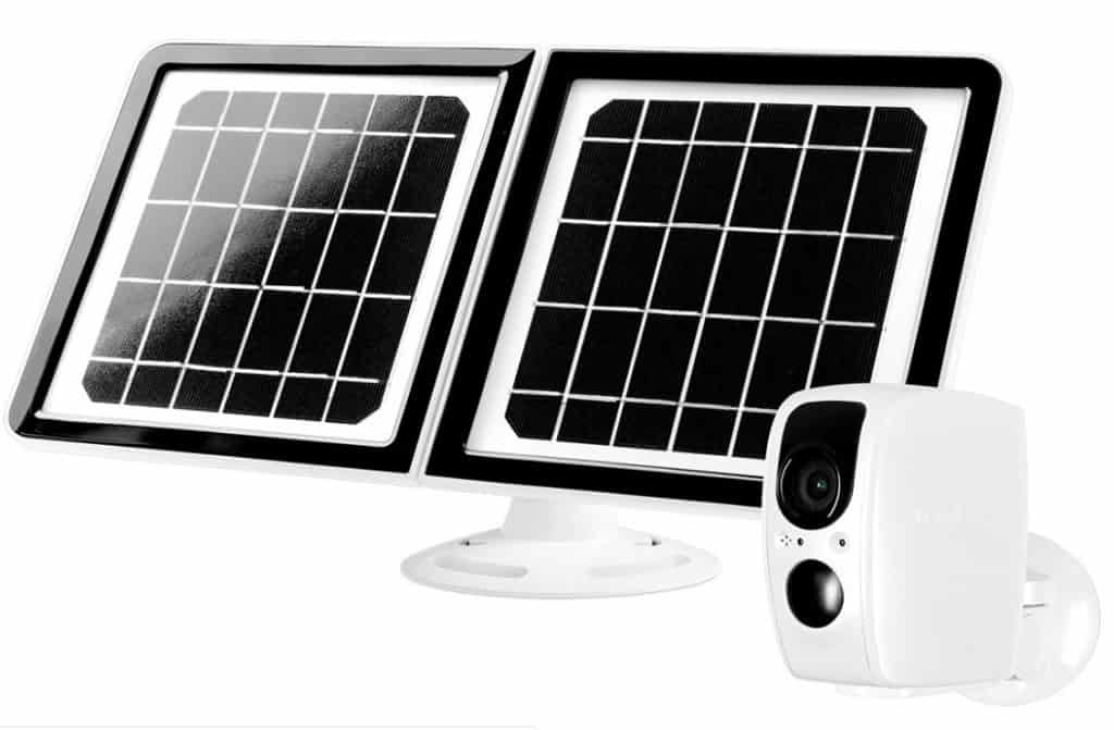 smart home security cameras solar powered camera