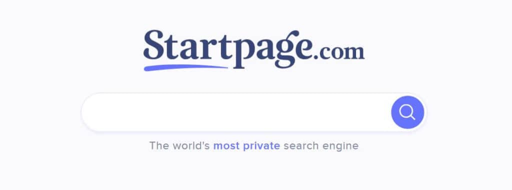 Startpage best private search engine.