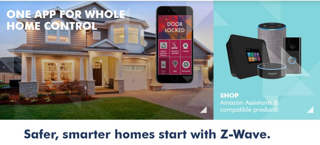 z-wave smart home security device communication