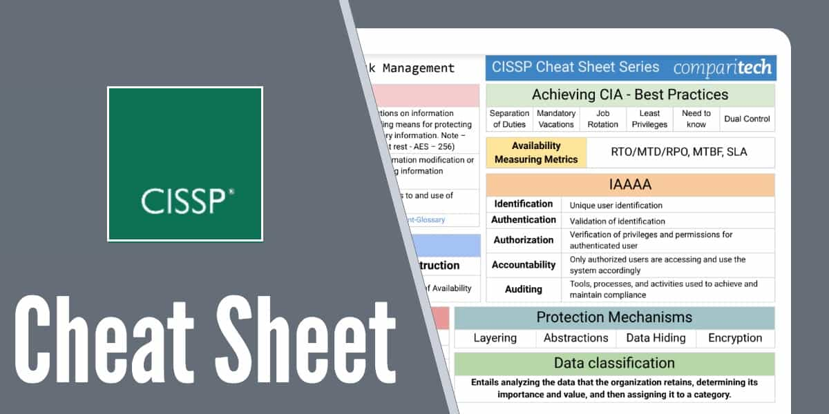 cissp certification cheat sheet  study guides  u0026 best courses