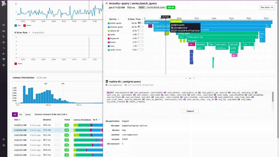Datadog Log Management multy query