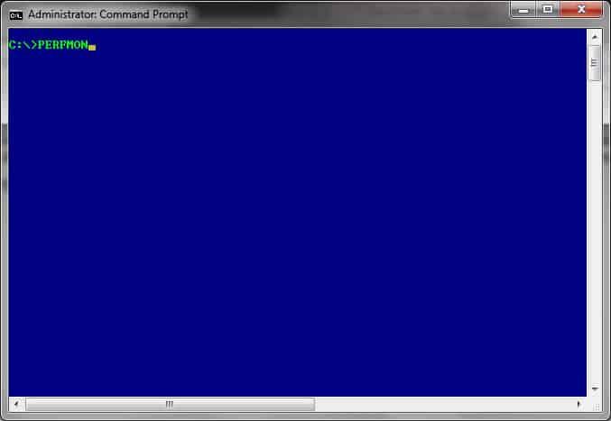 PERFMON - WIN Command line