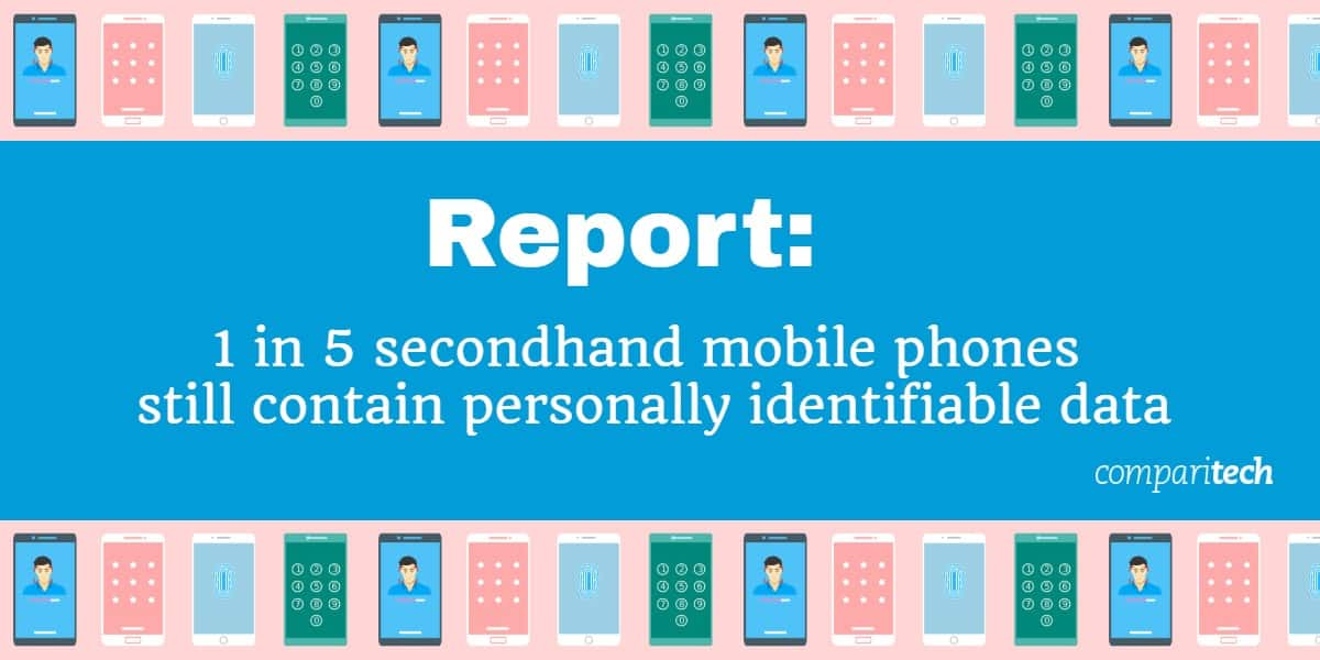 Report - 1 in 5 secondhand mobile phones still contain personally identifiable data