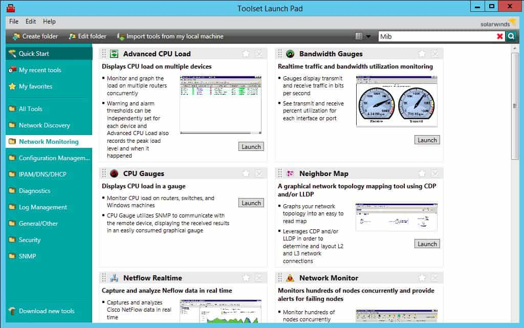 SolarWinds Engineers Toolset CPU Gauges