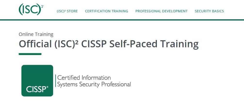 Official (ISC)² CISSP Self-Paced Training