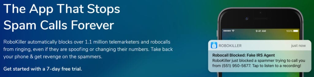 Robokiller robocall and spam call blocking