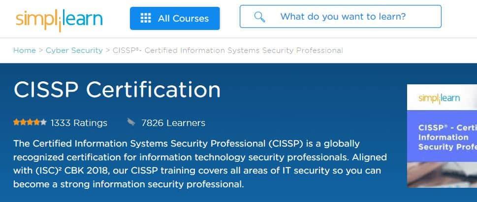 Simplilearn: CISSP Certification