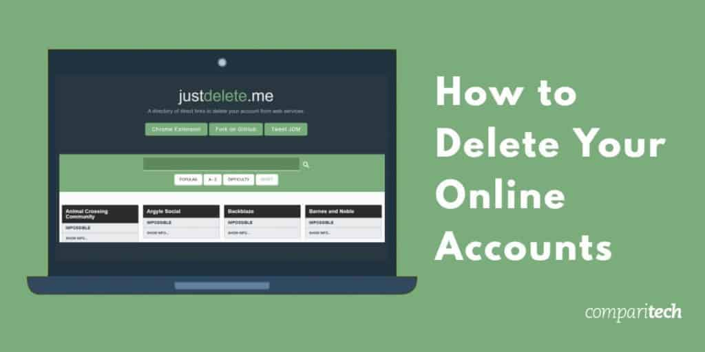 how to delete your online accounts