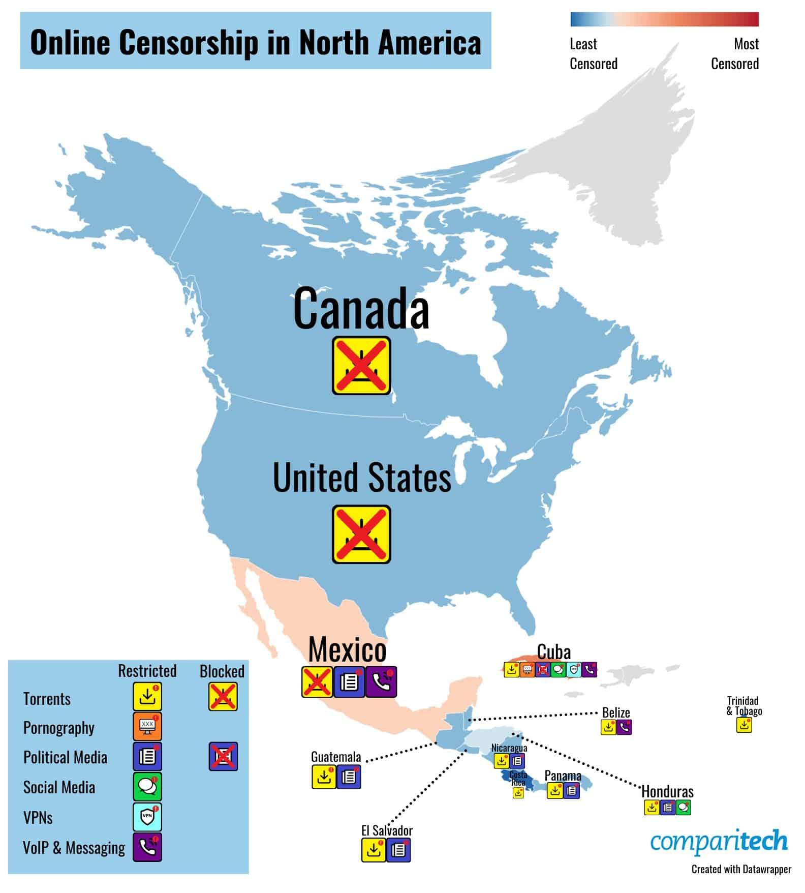 Censura na América do Norte