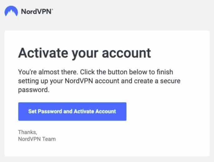 NordVPN activate account