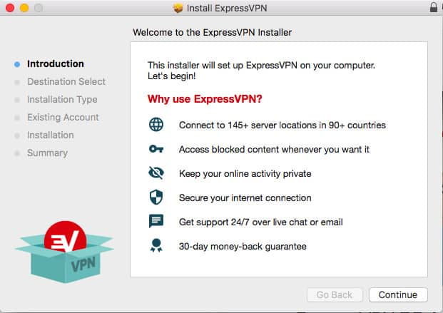 ExpressVPN install