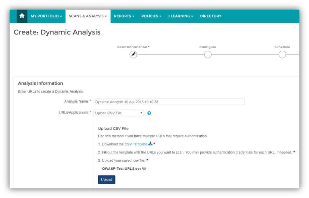 Veracode dynamic analysis