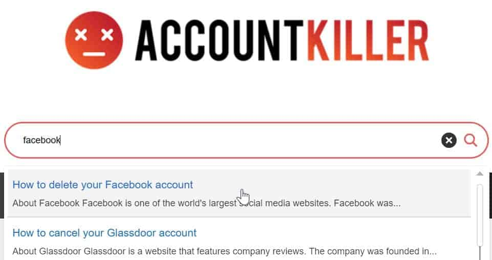 account killer delete online accounts