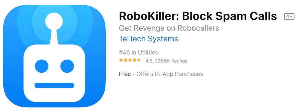 Robokiller spam call blocker for ios