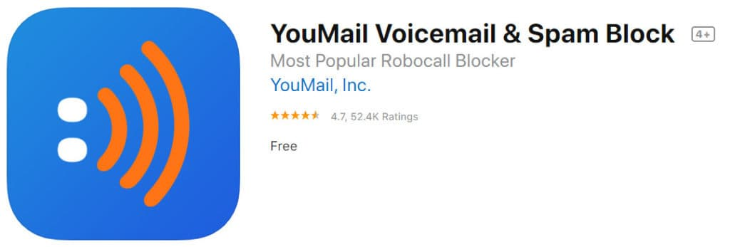 YouMail Voicemail spam call blocker for ios